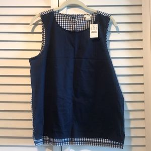 Navy & gingham tank from J. Crew Factory